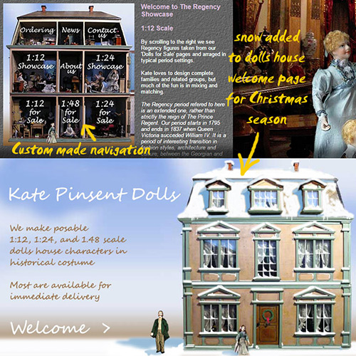 The website of Kate Pinsent Dolls
